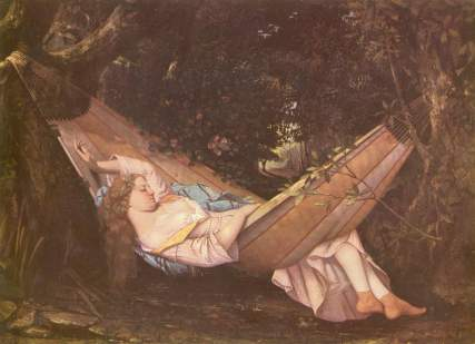 The Hammock - 1844 Gustave Courbet