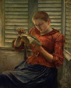 Woman reading, by Kuroda Seiki [Public domain]