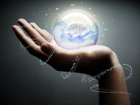 light-world-in-your-hands - Public Domain