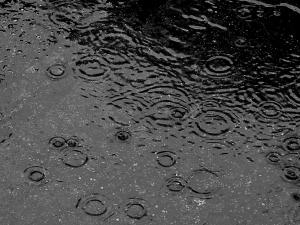 rain in road
