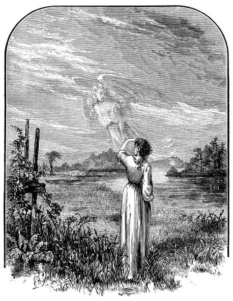 Angel waving goodbye