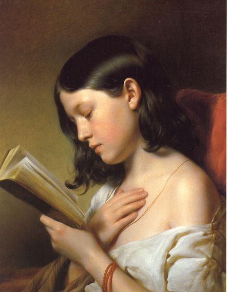 Girl Reading by Franz Eybl, 1850