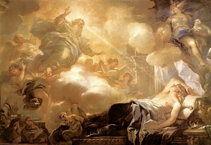 Dream of Solomon by Luca Giordano, circa 1693
