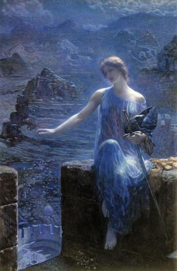 The Valkyrie's Vigil, by Edward Robert Hughes