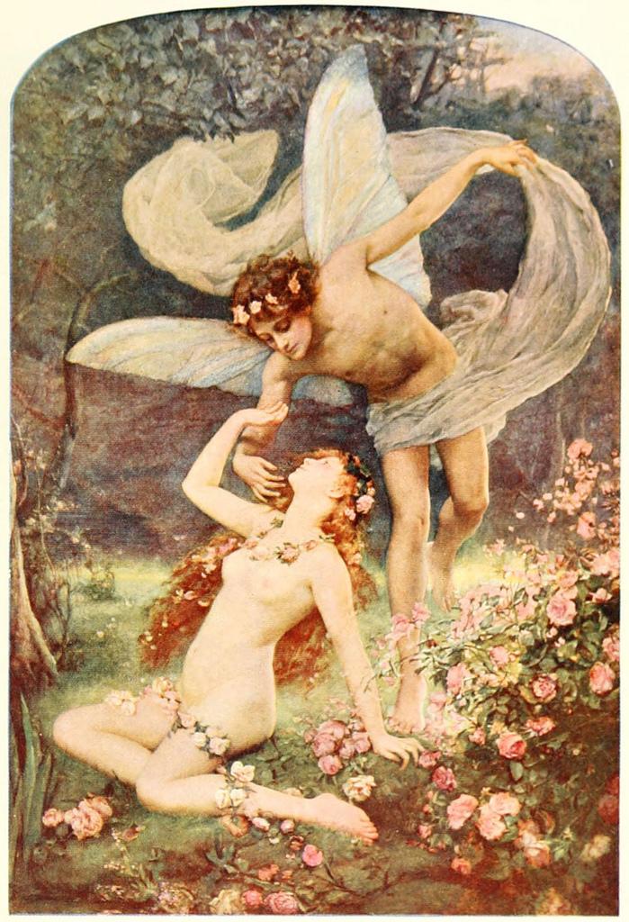 Zephyrus wooing Flora by Henrietta Rae (1859-1928)