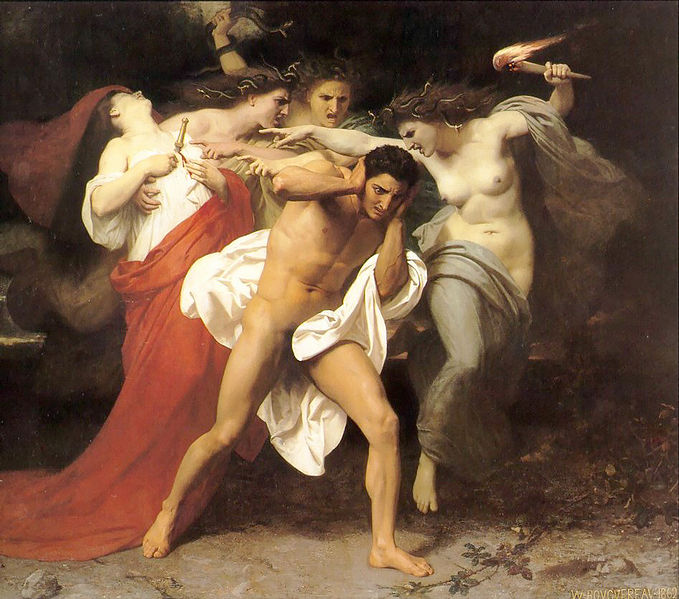The Remorse of Orestes or Orestes Pursued by the Furies, Bouguereau, 1862