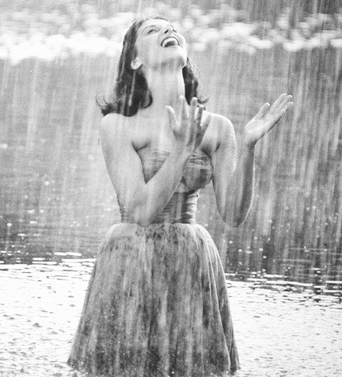 Pier Angeli in the Rain