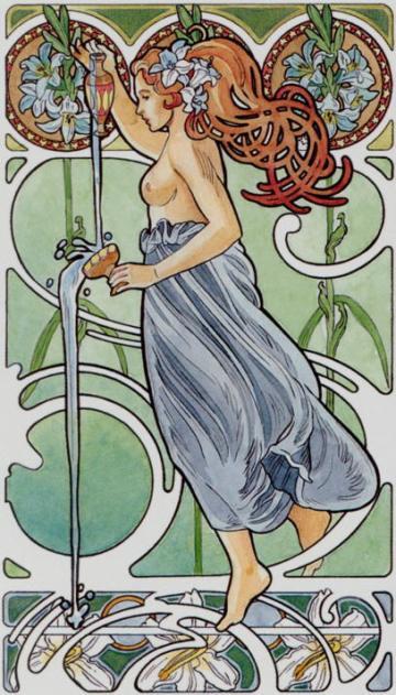 14. Temperance (The Art Nouveau Tarot)