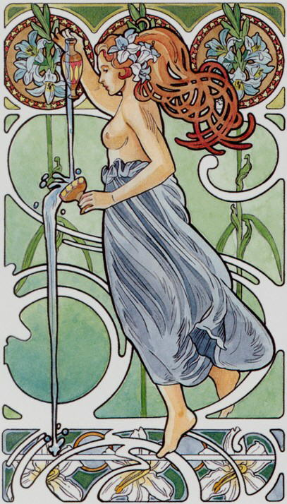 14. Temperance (The Art Nouveau Tarot)