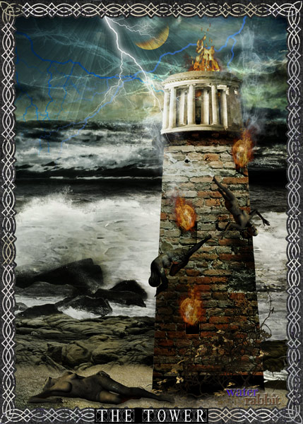 16. The Tower - Creative Muse Tarot Deck