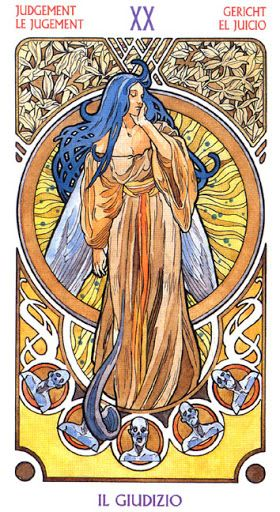 XX. Judgment - Art Nouveau Tarot