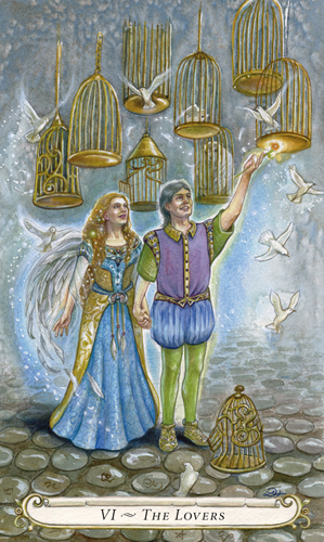 6. The Lovers (Fairy Tale Tarot)