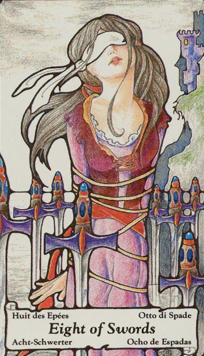 8 of Swords - Hanson Roberts Tarot