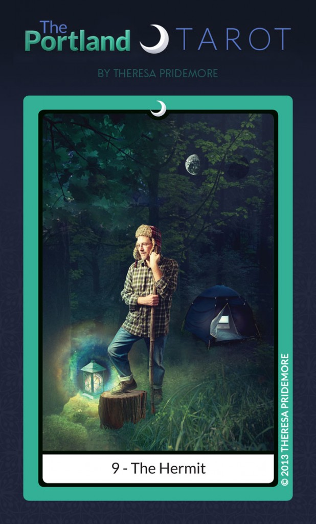 9. The Hermit (from the Portland Tarot)