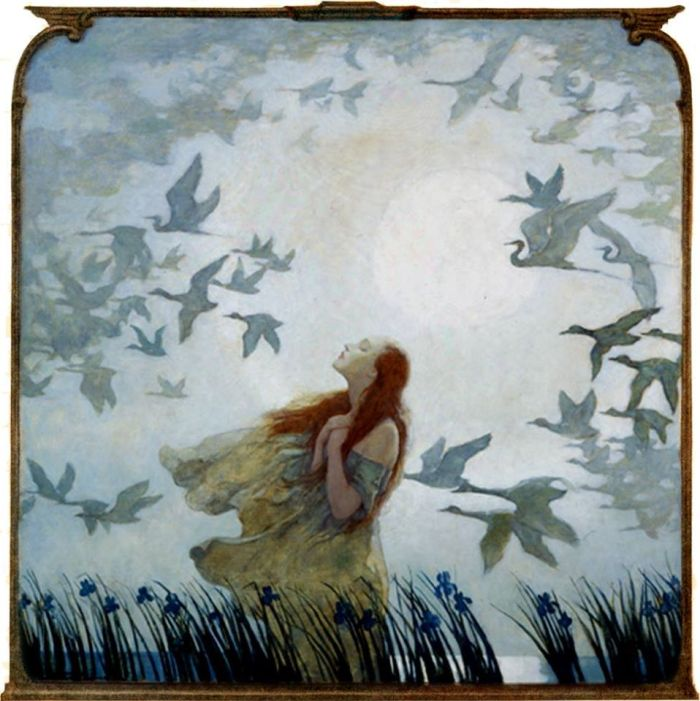 N. C. Wyath - All Birds Shall Have Homes, Out and Away in the Blue Mist, Off and Gone in the Gray Haze. 1928