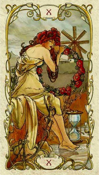 X. Wheel of Fortune, Mucha Tarot