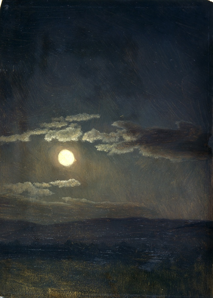 Cloud Study-Moolight, by Albert Bierstadt