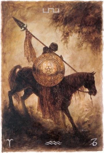 Knight of Pentacles - Labyrinth Tarot