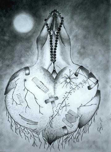 Broken Heart is a painting by Jalal Gilani